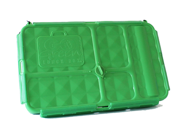 Go Green Original Lunch Box with Drink Bottle - Green