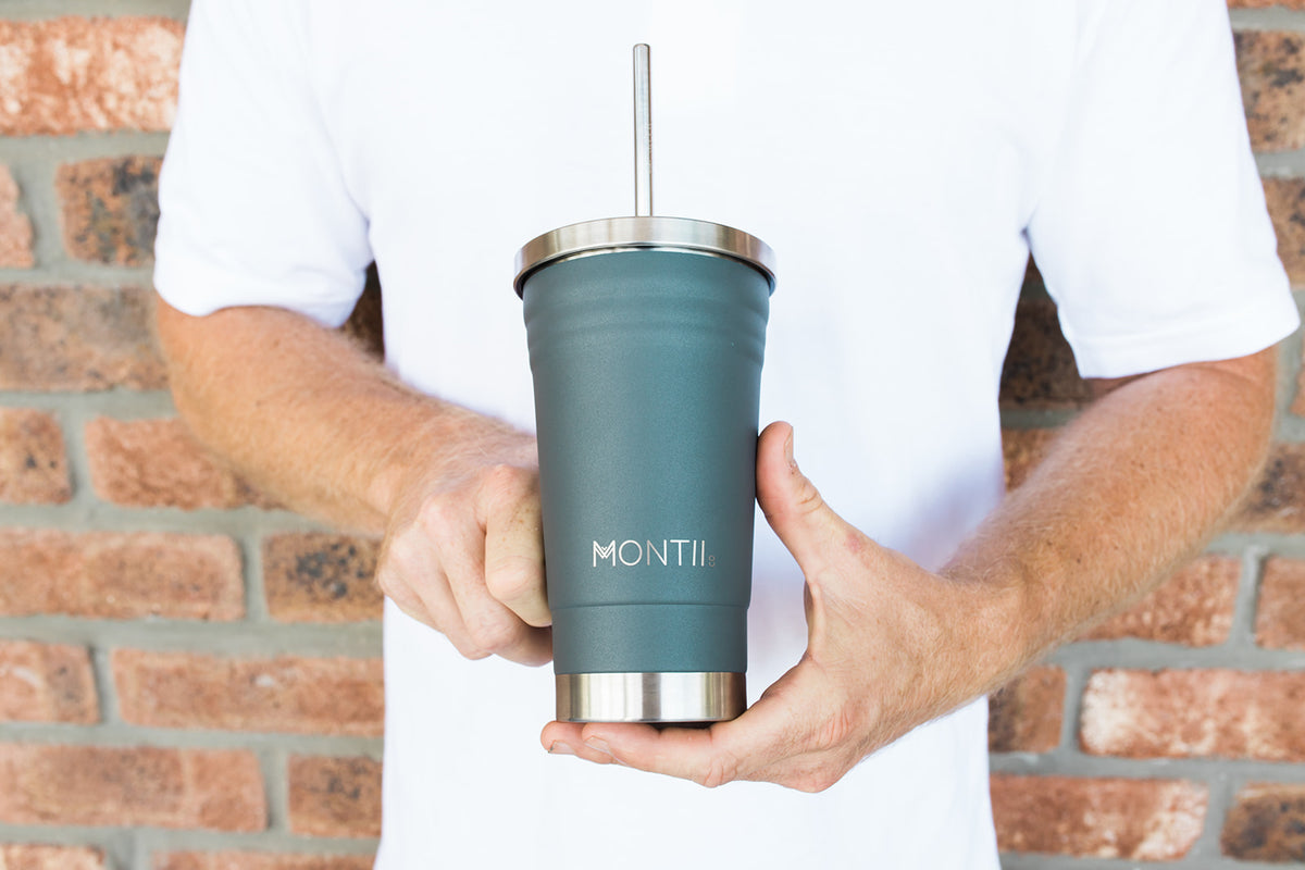 MontiiCo Original Smoothie Cup - Grey-Drink Bottle-Lunchbox Mini