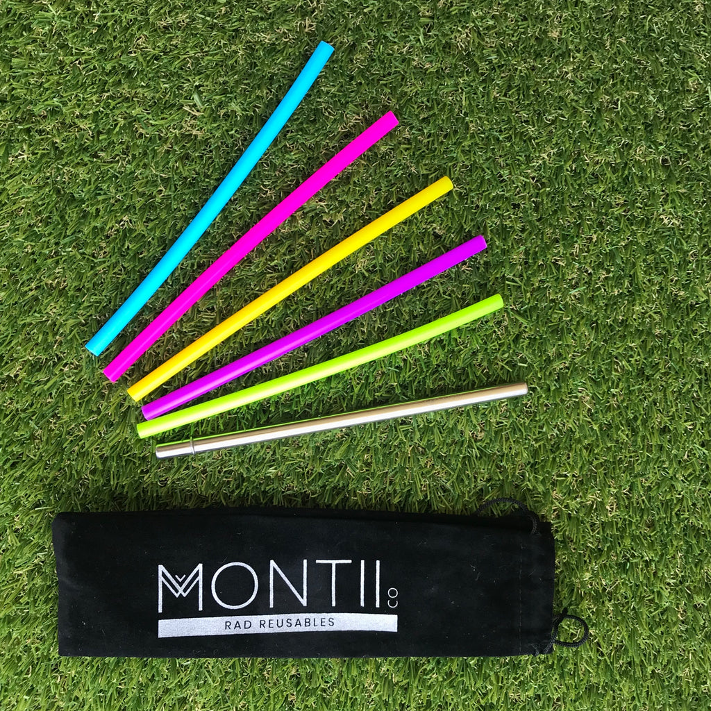 MontiiCo Mini Straw Set - 6 Pack