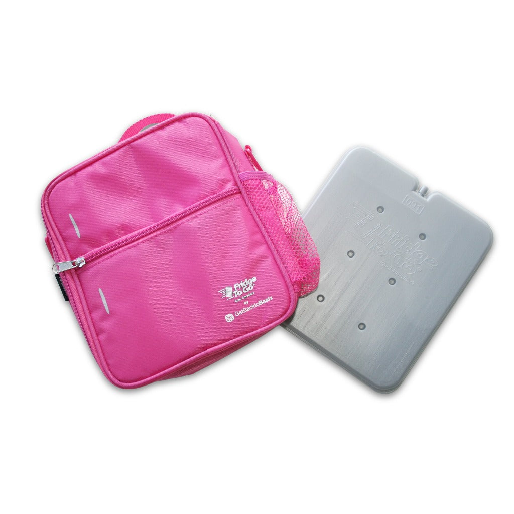 Fridge to Go Medium Insulated Lunch Bag - Pink