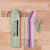 MontiiCo Silicone Straw Set - Mellow-Lunchbox Mini