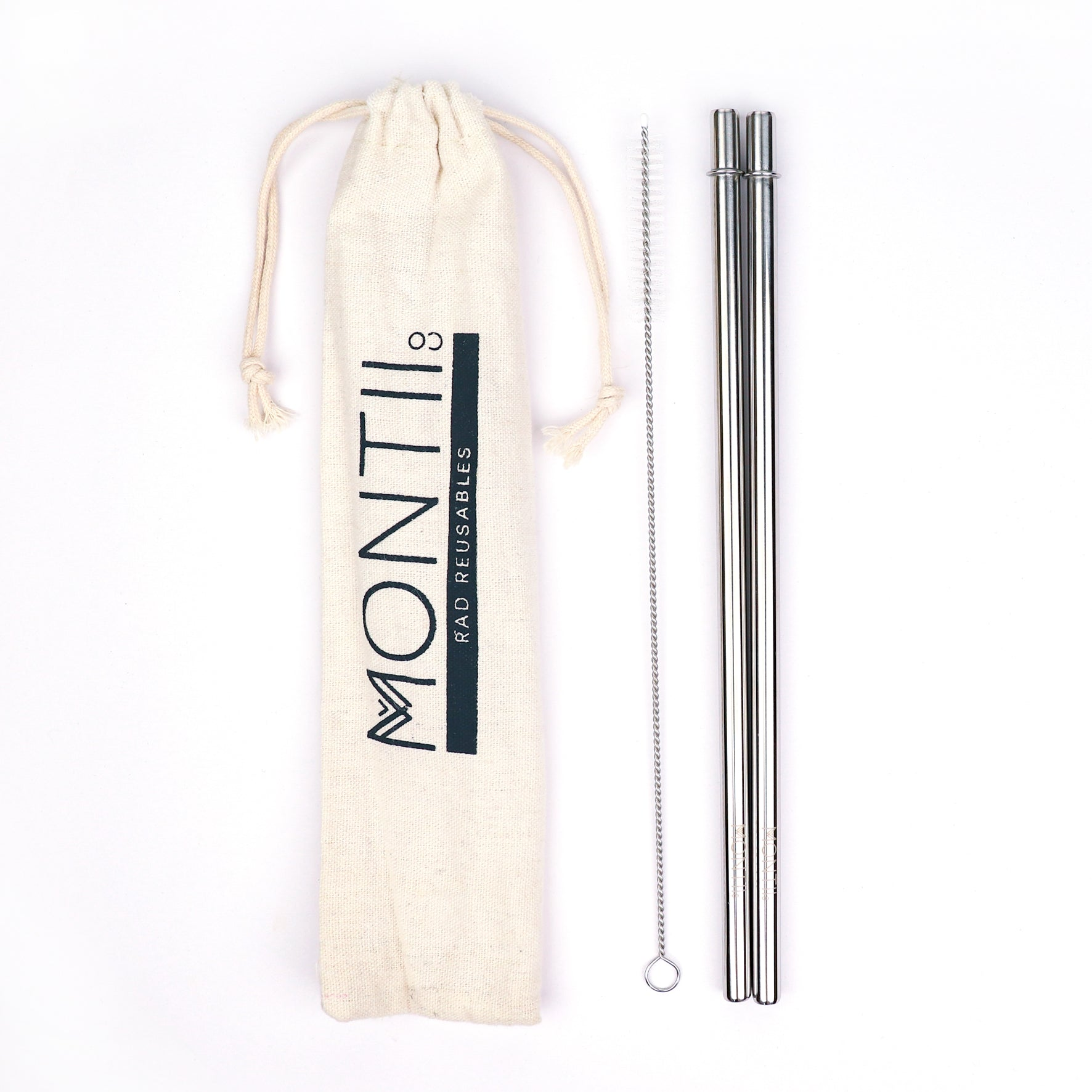 MontiiCo Stainless Steel Straw Set - Original-Lunchbox Mini