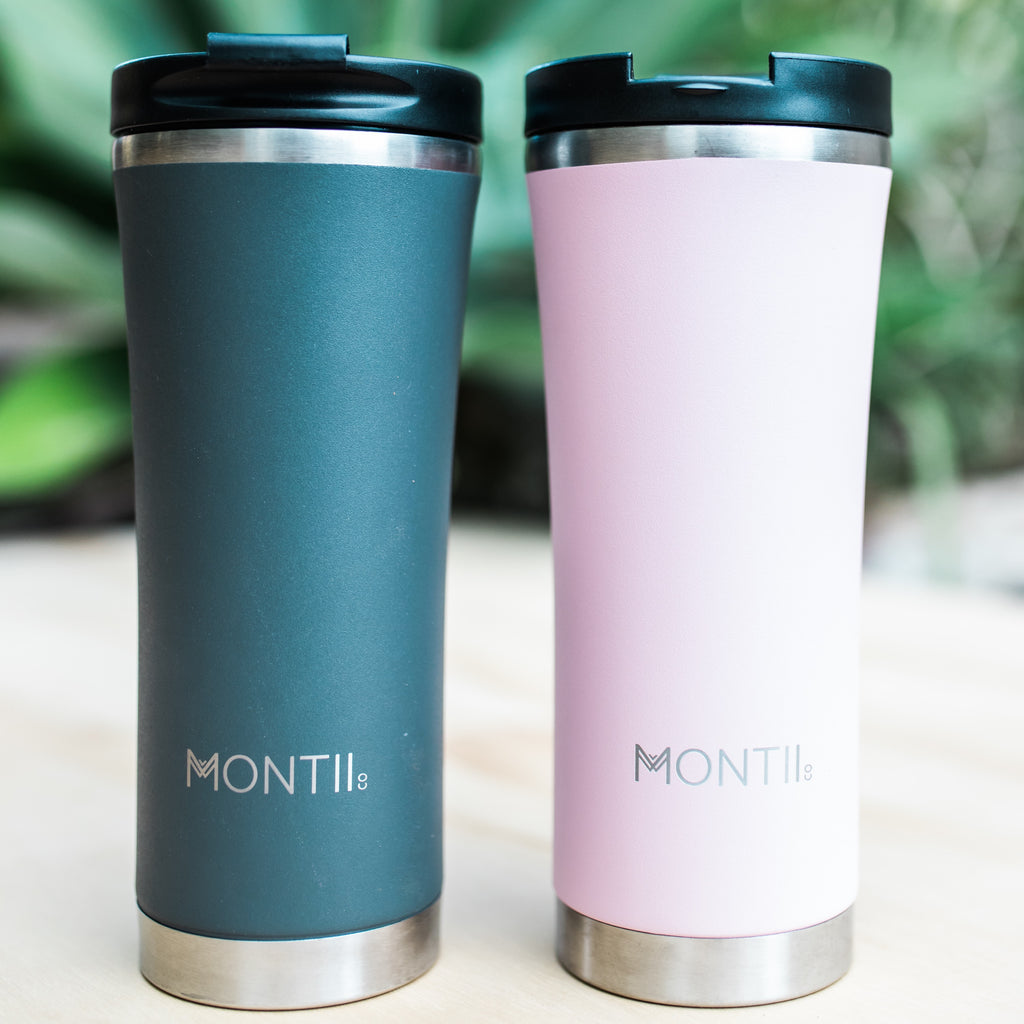 MontiiCo Hot Stuff Reusable Coffee Cup - Grey