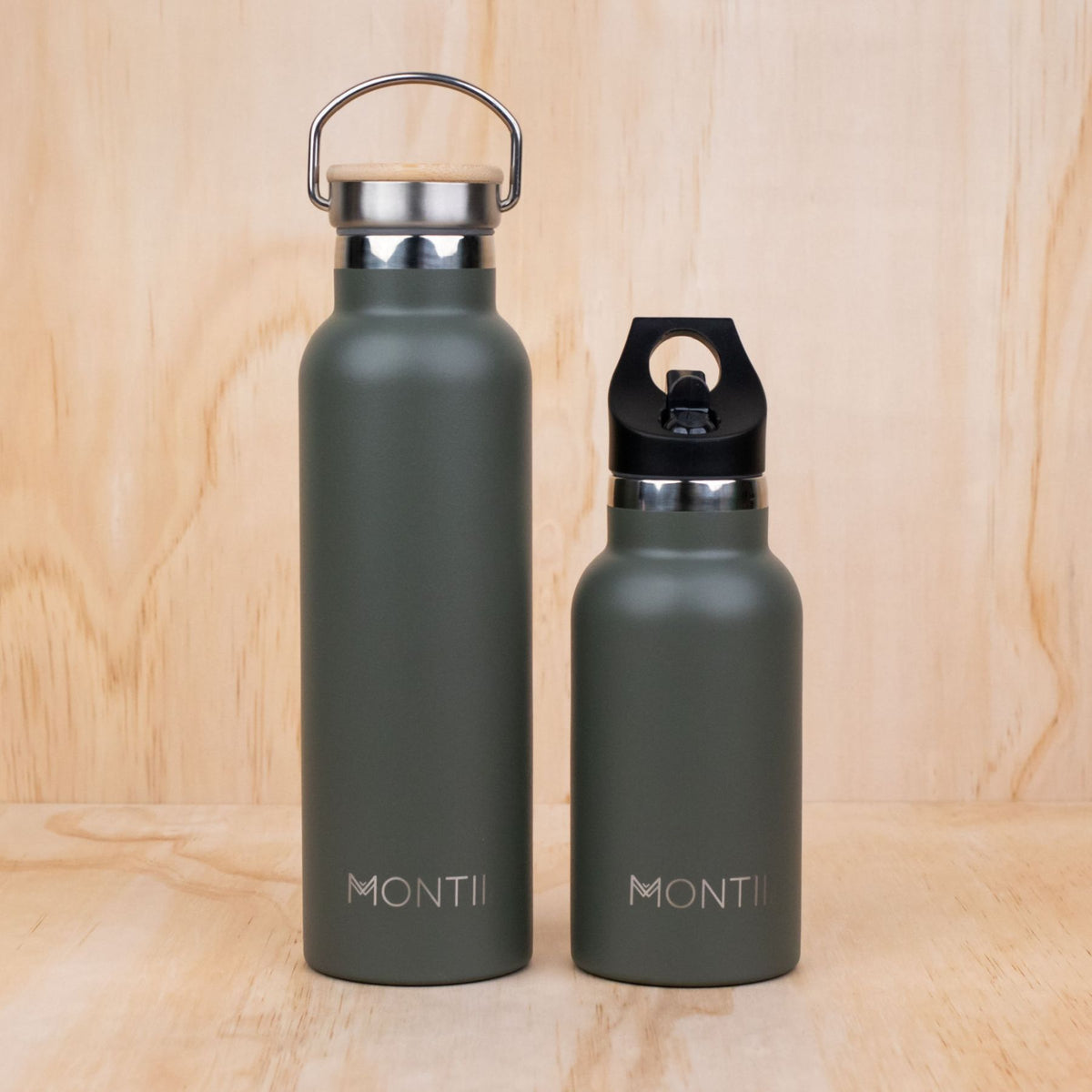 MontiiCo Original Drink Bottle - Moss - NEW - PRE-ORDERS OPEN!