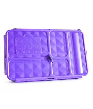 Go Green Original Lunch Box with Drink Bottle - Purple