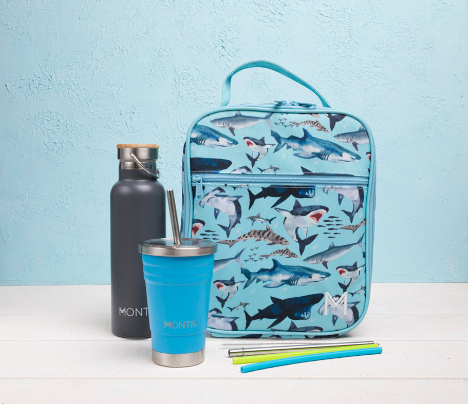 MontiiCo Insulated Lunch Bag - Shark-Lunchbox Mini