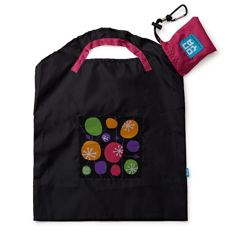 Onya Reusable Shopping Bag - Small - Black Retro-Lunchbox Mini
