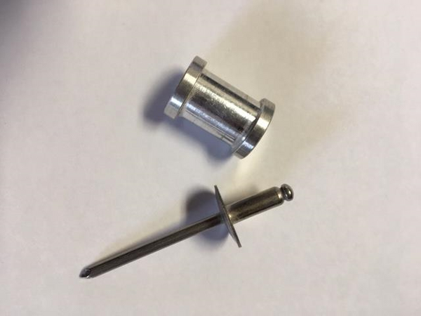 Thimble and Rivet for Lock