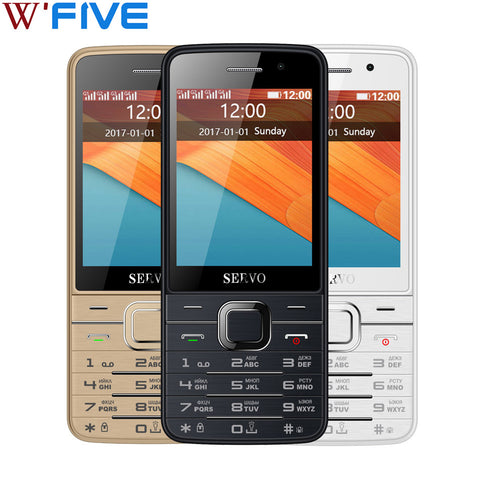 Original Phone SERVO V9500 2.8 inch 4 SIM cards Quad standby GPRS Bluetooth MP3 FM vibration Russian keyboard 2G Mobile phones