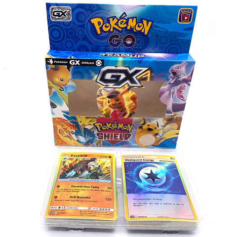 Anime 56pcs/set  Cards Pokemon Iron Metal Box TAKARA TOMY Toys Battle Game Snorlax Gengar Eevee Cartoon Kids Christmas Gifts