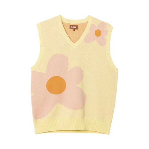 New men Luxury golf Flower Le Fleur Tyler The Creator Knit Casual Sweaters Vest sleeveless Asian Plug Size High Drake #M13