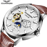 Relogio Masculino GUANQIN Automatic watch skeleton Mechanical clock men waterproof Wristwatches 2020 horloges mannen