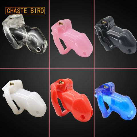 CHASTE BIRD Factory Price HT V2 100% Bio-sourced Resin Male Chastity Device Cock Cage 4 Penis Rings Adult Belt Sex Toys A238
