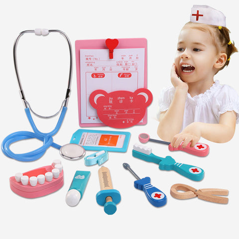 5-6Pcs Set Baby Toy Funny Play Real Life Cosplay Doctor Dentist Game Dokter Speelgoed Dental Pretend Doctors Children Toys Gifts