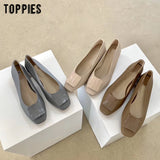 2020 Fashion Brand Low Heels Women Shoes Summer Shoes Ladies Ballet Square Toe Shallow Slip On Loafers
