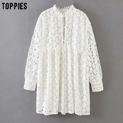 toppies white embroidery dress summer lace mini dress womens sexy bandage sexy v-neck blouses