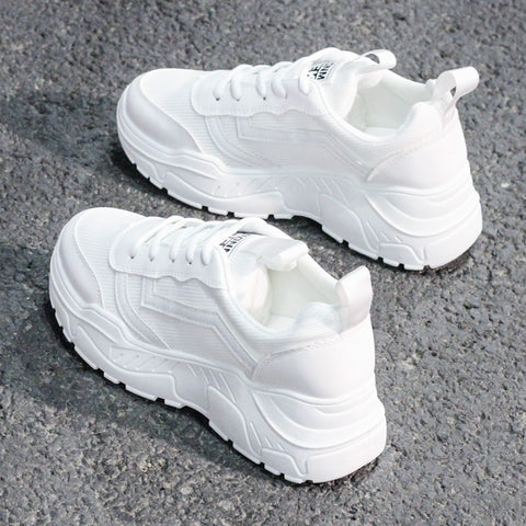 Casual Shoes Women Chunky Sneakers Fashion Dad Shoes For Women Spring Autumn White Black Shoes Chunky Sneaker Vulcanize Shoes