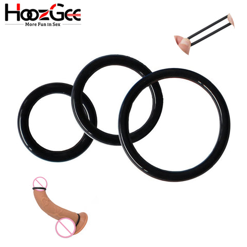 HoozGee Super Stretchy and Strong Cock Rings for Man Sex Products Penis Ring Sextoys Extended Ejaculation Time Sex Toys (3pcs)