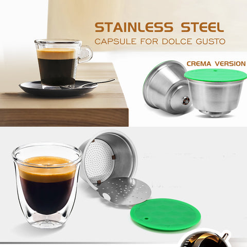 iCafilas Vip Link Stainless Metal Rusable For Dolce Gusto Coffee Capsule fit Nescafe with Filter Ground