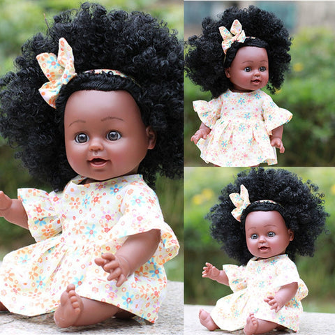Girl Baby African Black Girl Lifelike 5cm Dolls Baby Toys For Kids Children Girls Boys Body Play Vinyl Dolls newborn Baby doll