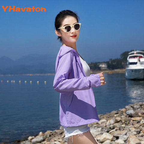 2020 New Women's Summer Thin Jacket Long Sleeve Sunscreen Women Clothing Out Breathable Bomber Jacket Pure Colour Short Coat