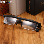IENJOY TR90 Double Vision Focus Dial Adjustable Glasses -6d to +3D Myopia Presbyopia Glasses TR90 Reading Glasses