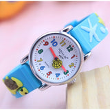 2019 Fashion Leather Quartz Ocean World dolphin kids cartoon WristWatch clock student Watches Horlog Relogio Feminino Montres