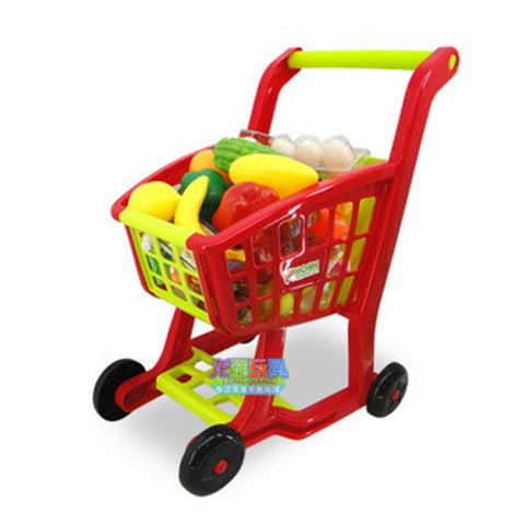 Play house shopping cart boy girl children simulation supermarket trolley mini baby toys 1-3 years old