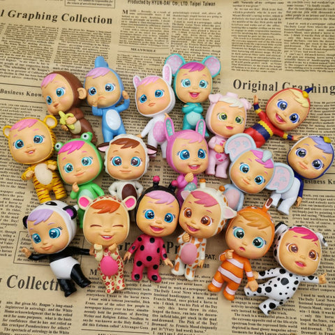 8cm plastic doll  Cry Babies Magic Baby Surprise Doll Toy play house gift for girl