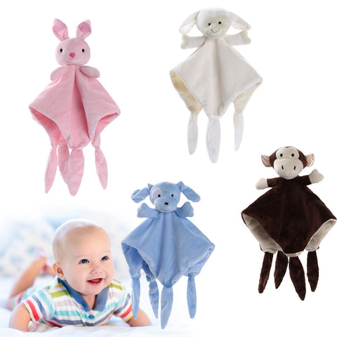 Baby's Plush Toys Newborn Soft Baby Teddy Bear Puppet Toy Gift Snuggle Baby Toy Comforter Blanket For Kids Toy