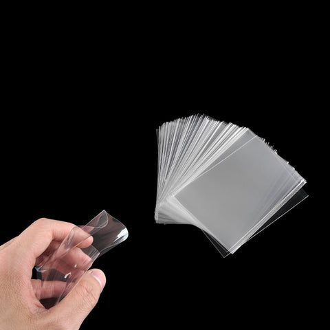 100pcs/pack Card Sleeves Magic Board Game Tarot Three Kingdoms Poker Board Game Outdoor Transparent Cards Protector 65*90mm