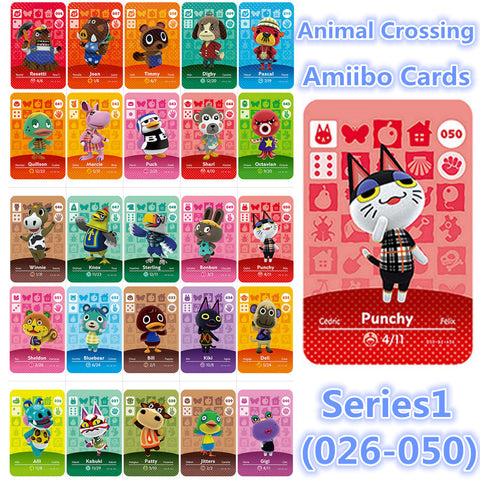 Series 1(026to 050) Animal Crossing Amiibo Card New Horizons Compatible for NS games 3