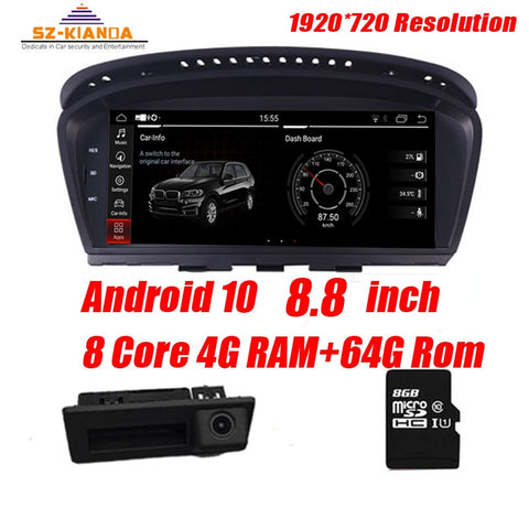 4G Ram+64G Rom Android 10 Car multimedia player for BMW 5 Series E60 E61 E63 E64 E90 E91 E92 CCC CIC Support iDrive Radio GPS
