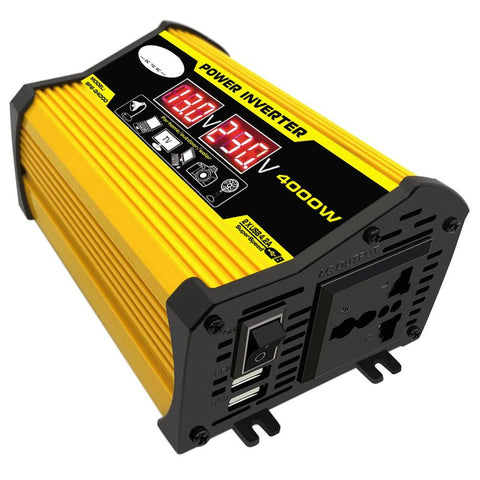 4000W 12V to 220V/110V LED Display Car Power Inverter Converter Adapter Dual USB Voltage Transformer Modified Sine Wave