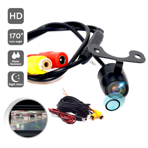 New HD Night Vision Car Rear View Camera 170 Wide Angle Reverse Parking Camera Waterproof CCD LED Auto Backup Monitor Universal