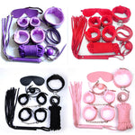 7PC Handcuffs Sex Toys For Woman Butt Anal Plug Bdsm Bondage Strapon Lingerie Nipple Clamps Esposas Para Sexo Exotic Accessories