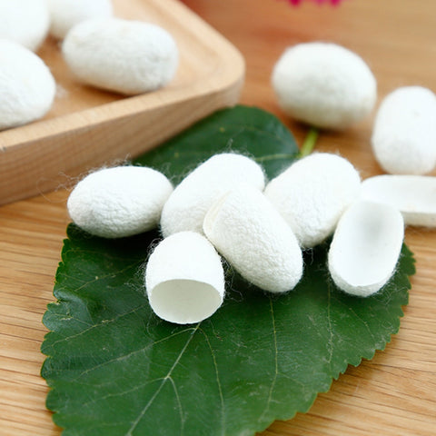 Natural Silk Cocoons Facial Skin Care 30PCS Organic Silkworm Balls Purifying Whitening Exfoliating Scrub Blackhead Acne Remover