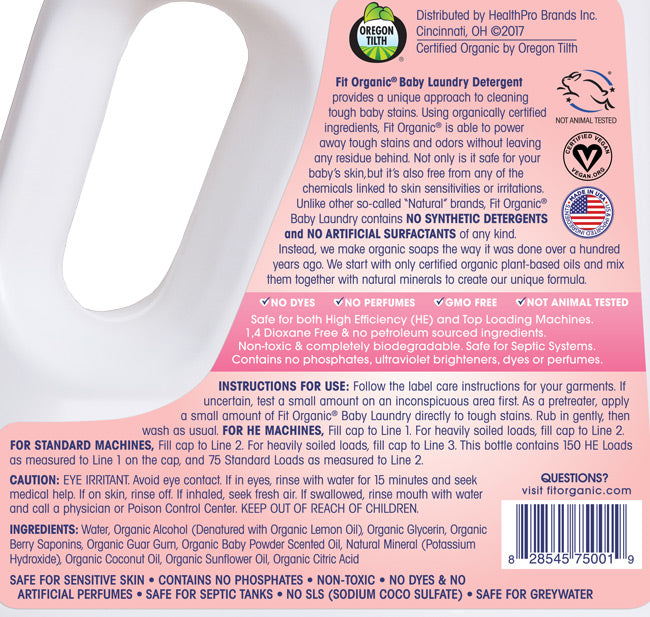 Fit Organic 100 Oz Baby Laundry Detergent