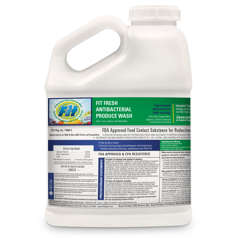 FIT Fresh Antibacterial Produce Wash - 1 gallon Bottle (4-pack)