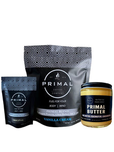 Primal Blend Full Size Bag + Primal Blend Single Serving 5-Pack + Primal Butter