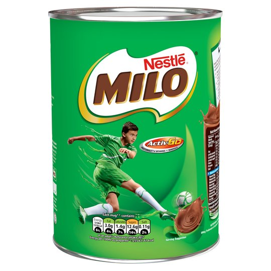 MILO Chocolate Drink Powder Pack 6x400g