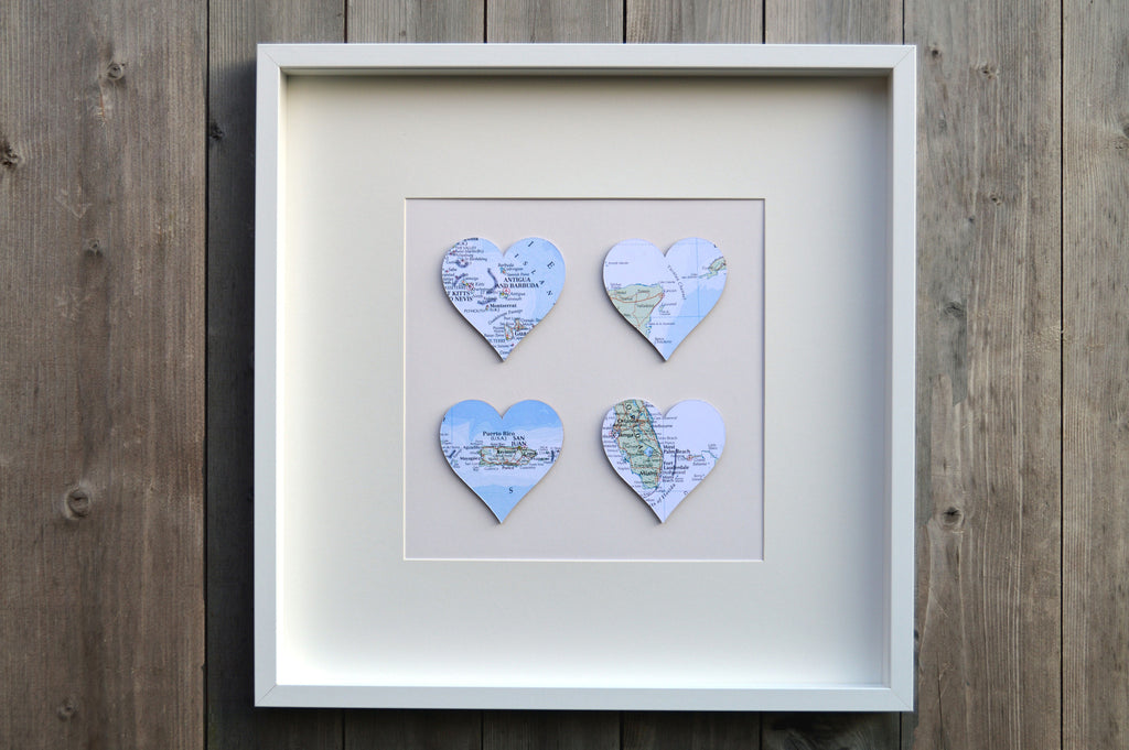 Large 4 Heart Maps