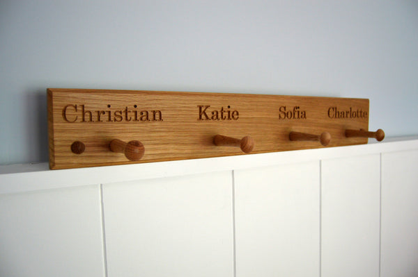 Personalised Peg Rail