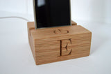 Oak Phone Charger Stand
