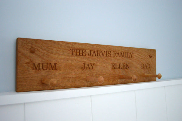 Large Personalised Peg Rail