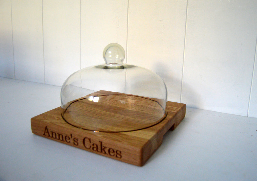 Cake Board with Glass Dome