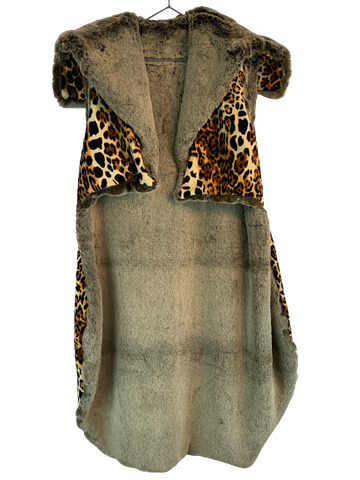 Leopard King Fur Cape