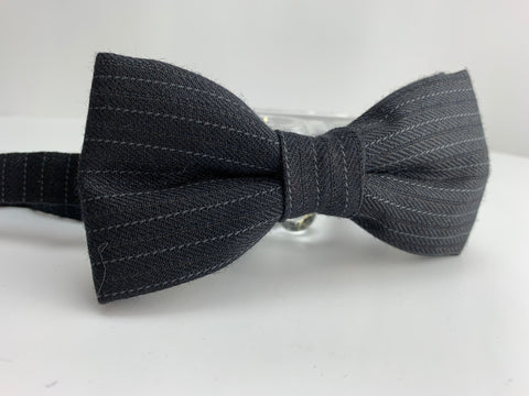 Classic Pinstripe Bow Tie