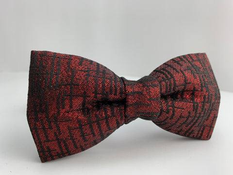 Ruby Red Glitz Bow Tie