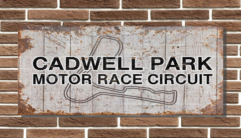 Cadwell Park Motor Circuit Board Sign